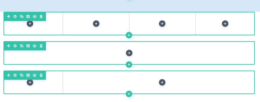 Diviの使い方、通常セクションのワイヤーフレーム2