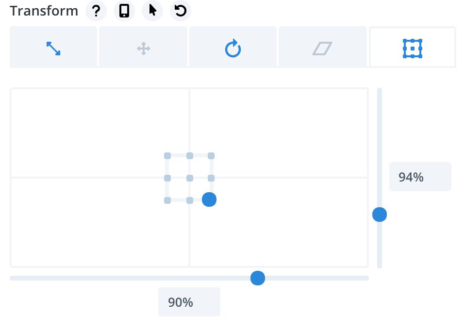 Diviの使い方、Transformのoriginをずらす