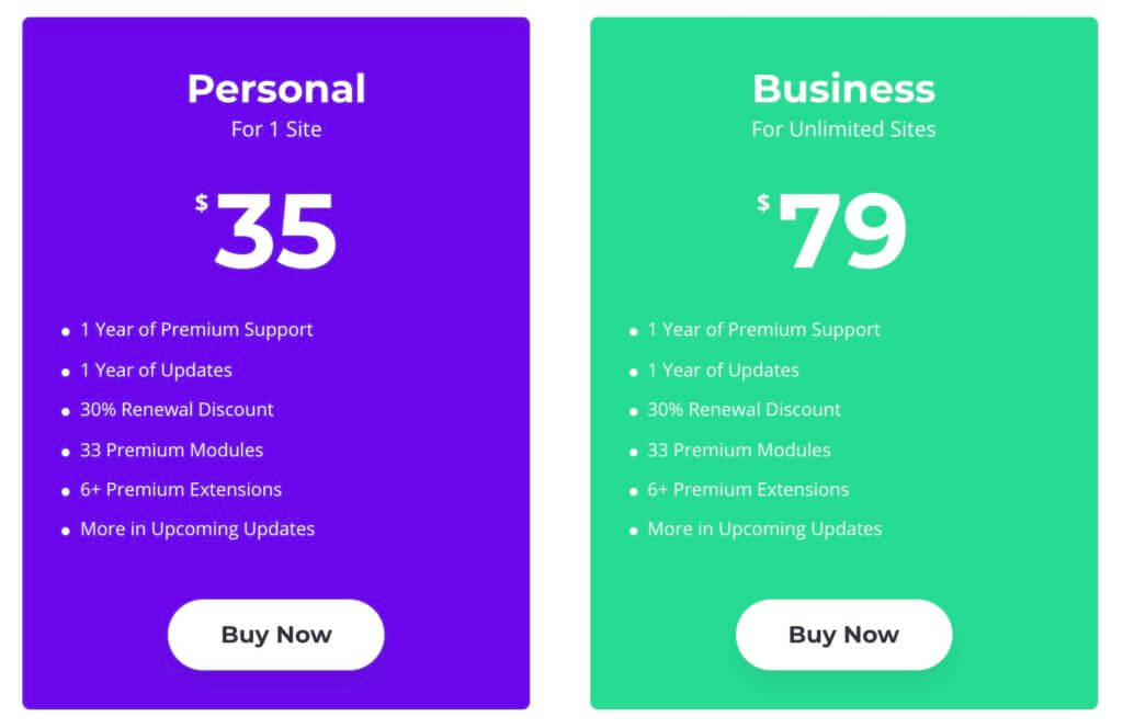 Divi Supreme Modules Pro値段の違いは使えるサイトの数