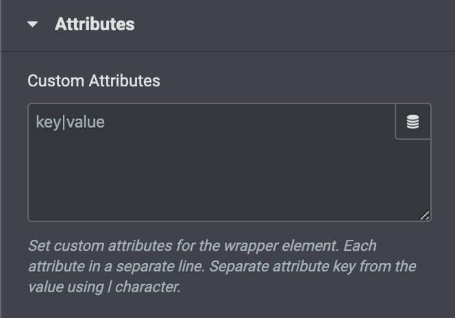 Elementor ProのカスタムAttributes