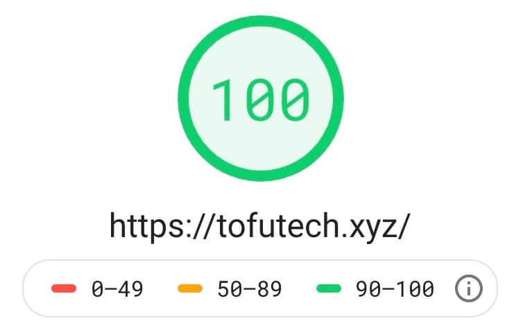 Googleのスピードテストで100点を取る