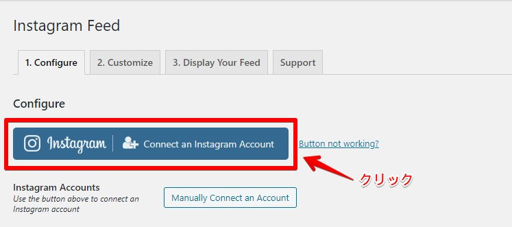 Instagramボタンをクリック