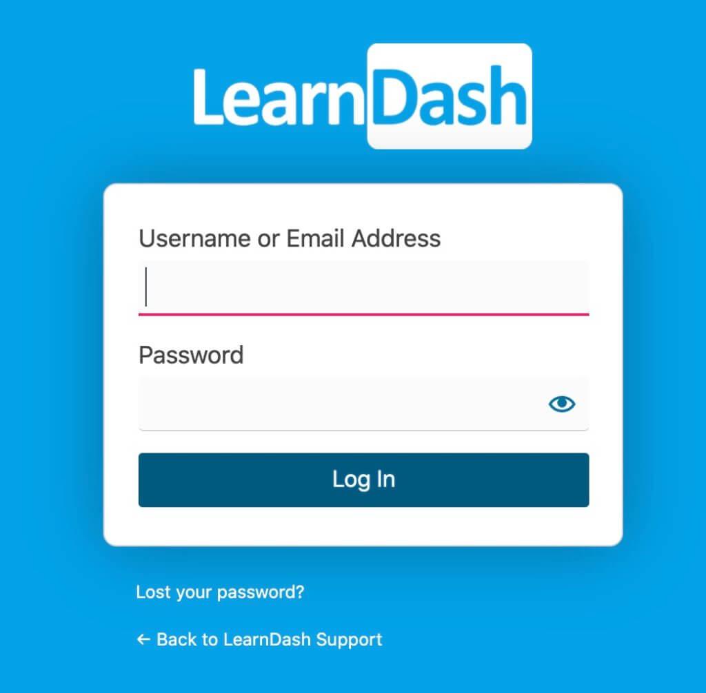 LearnDashのログインページ