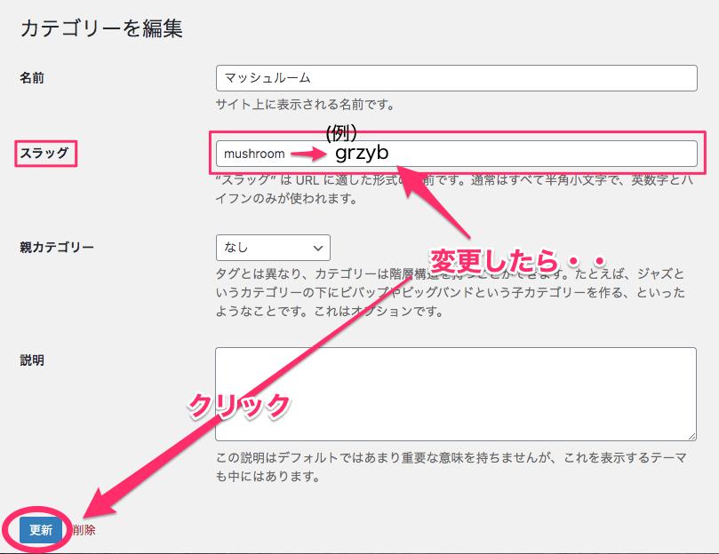 URLスラッグの変更の仕方