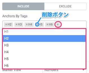 『Anchor By Tags』・タグの追加と削除