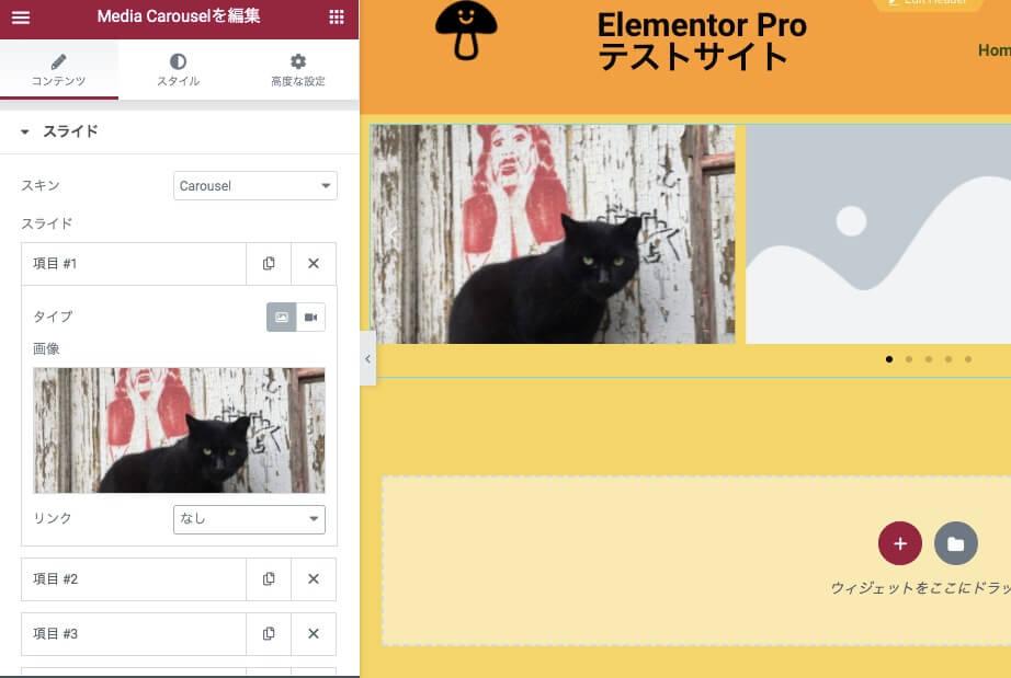 項目に画像挿入後の表示画面