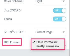 URL Formatの説明